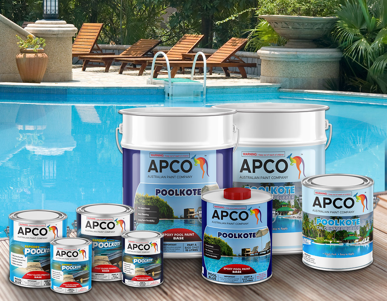 Poolkote paint products