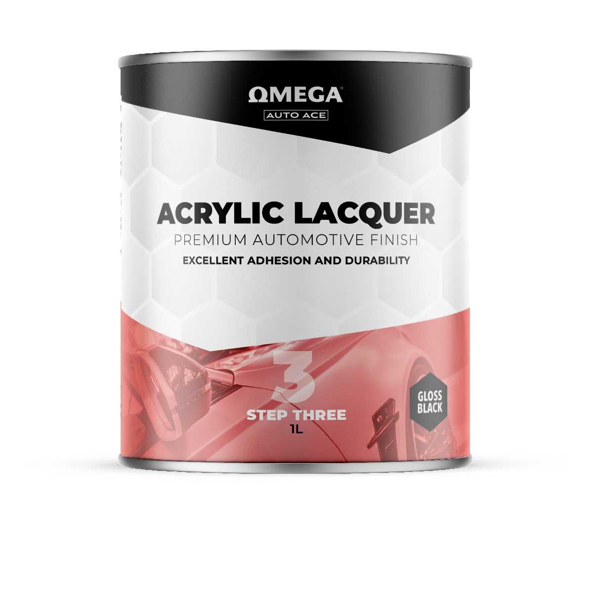 Omega Auto Ace Acrylic Lacquer Gloss Black 1lt