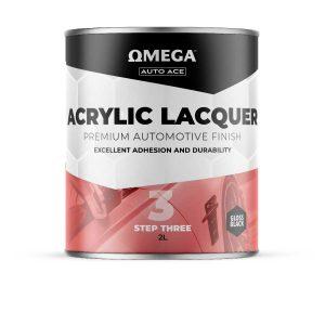 Omega Auto Ace Acrylic Lacquer Gloss Black 2lt