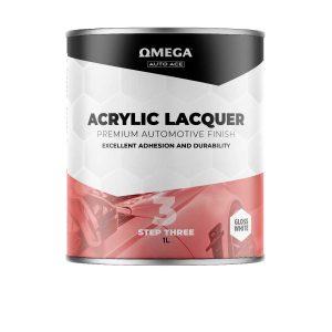 Omega Auto Ace Acrylic Lacquer Gloss White 1LT