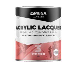 Omega Auto Ace Acrylic Lacquer Gloss White 2lt