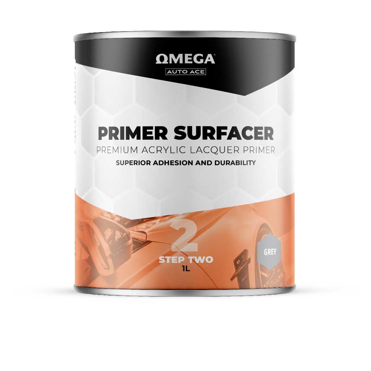 Omega Auto Ace Acrylic Primer Surfacer Grey 1lt