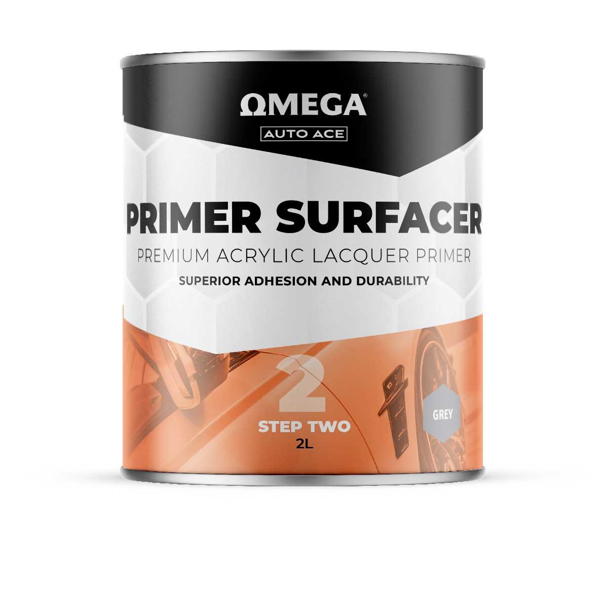 Omega Auto Ace Acrylic Primer Surfacer Grey 2lt